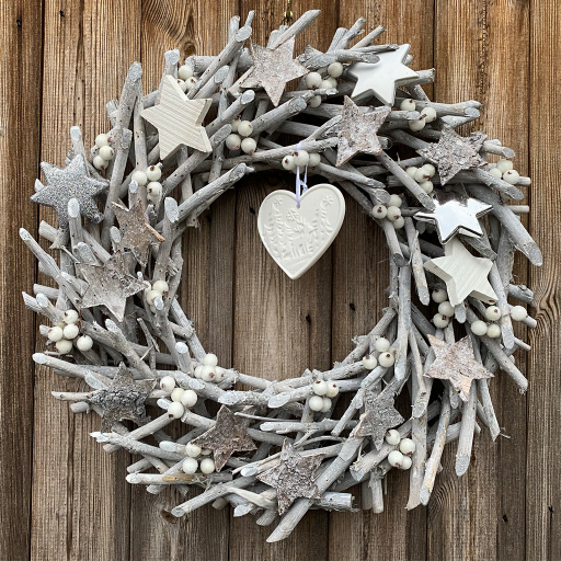 Starry Starry Night Wooden Wreath